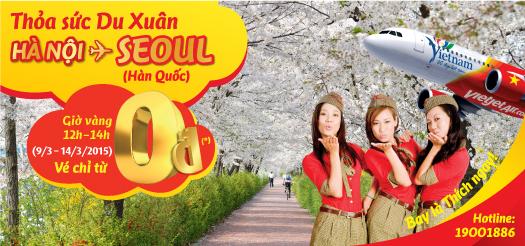 Thỏa sức du xuân: Hà Nội – Seoul