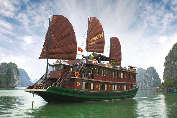 Du thuyền Elizabeth Sails Hạ Long 2 ngày 1 đêm